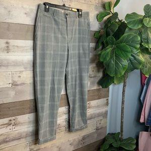 Zara Man Dress Pant Size 31 Plaid Unlined